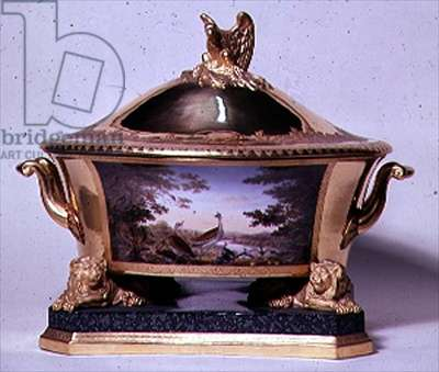 Tureen from the Prussian Dinner Service, Berlin, 1816-19 (porcelain & gilt) (see also 10534)