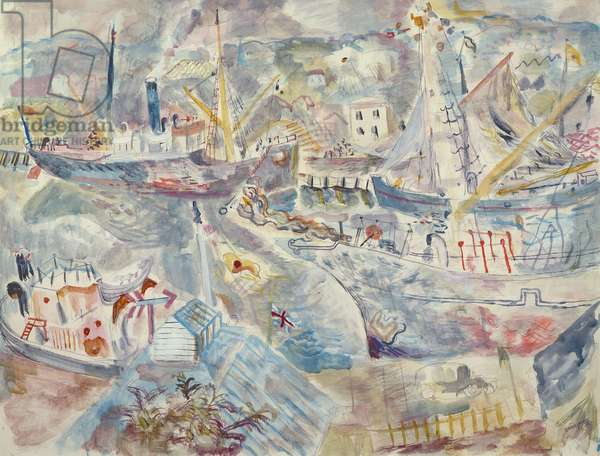 Place for Ships, 1931 (w/c)