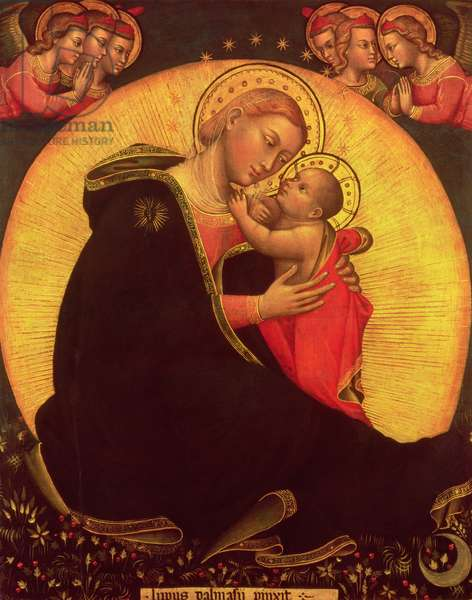 The Madonna of Humility, 1390-1400 (tempera on canvas)