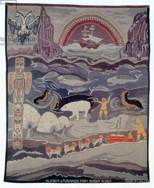 Alaska, Purchased from Russia in 1867 (tapestry)