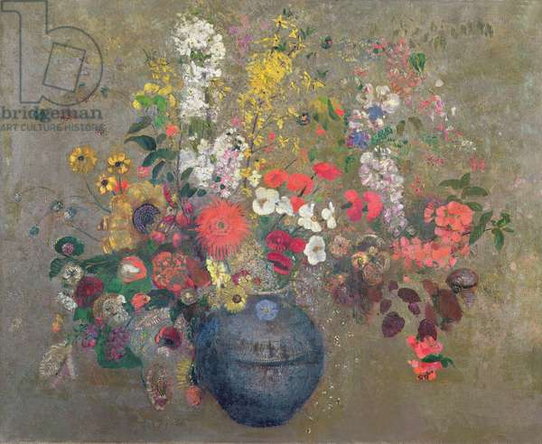 Flowers, 1909 (oil on canvas)
