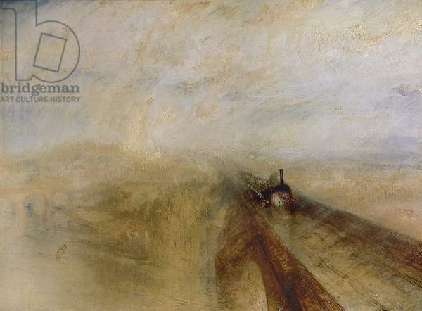 Rain Steam and Speed, The Great Western Railway, painted before 1844 (oil on canvas)