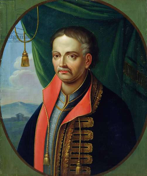 Portrait of Ivan Mazepa, hetman of the Ukrainian cossacks (oil on canvas)