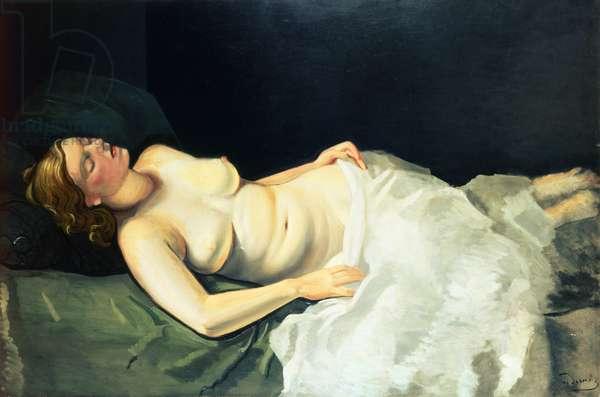Blonde Nude Sleeping, 1936