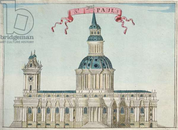 St. Paul's Cathedral, from 'A Book of the Prospects of the Remarkable Places in and about the City of London', c.1700 (engraving)