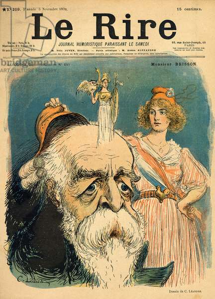 Caricature of Henri Brisson, from the front cover of 'Le Rire', 5th November 1898 (colour litho)