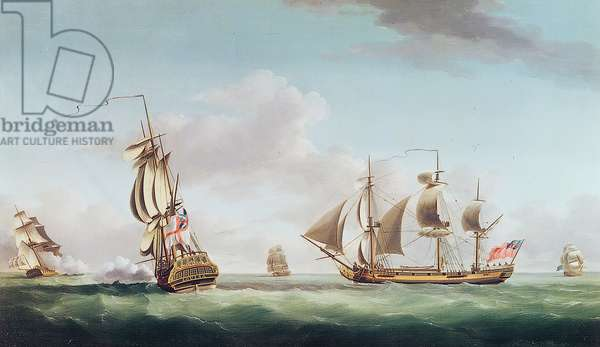 The 'Louisa' engaging the 'Cato'