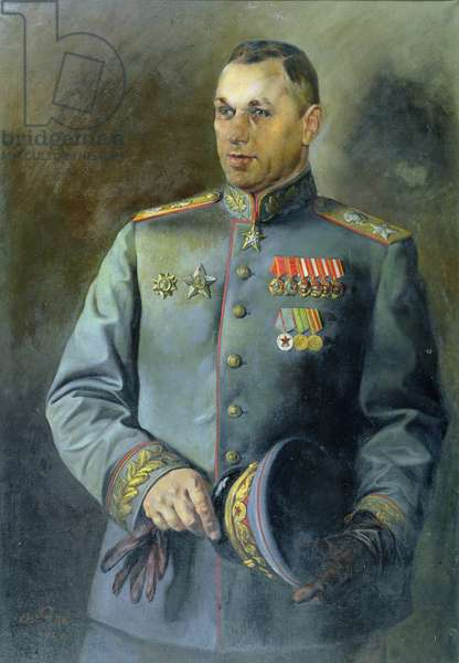 Portrait of the Marshal of the Soviet Union and Poland, Konstantin Rokossovsky (1896-1968), 1944 (oil on canvas)