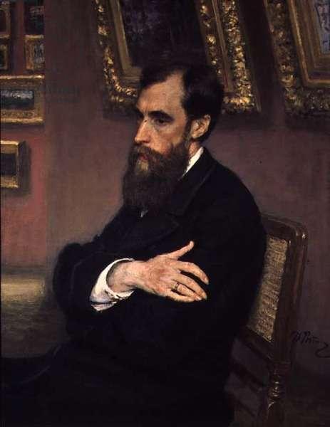 Portrait of Pavel Tretyakov (1832-98) the founder of the State Tretyakov Museum, 1883 (oil on canvas)