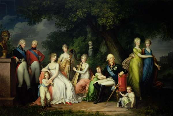 Paul I (1754-1801), Maria Feodorovna (1759-1828) and their Children, c.1800 (oil on canvas)