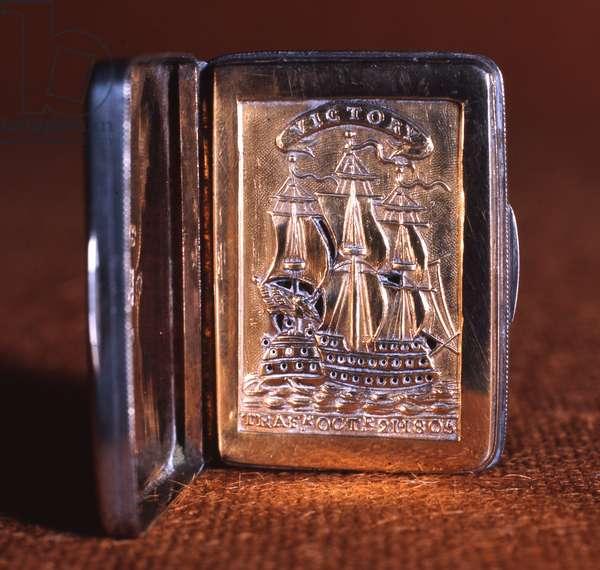 Vinaigrette, commemorating the Battle of Trafalgar, 1805-06 (Silver gilt)