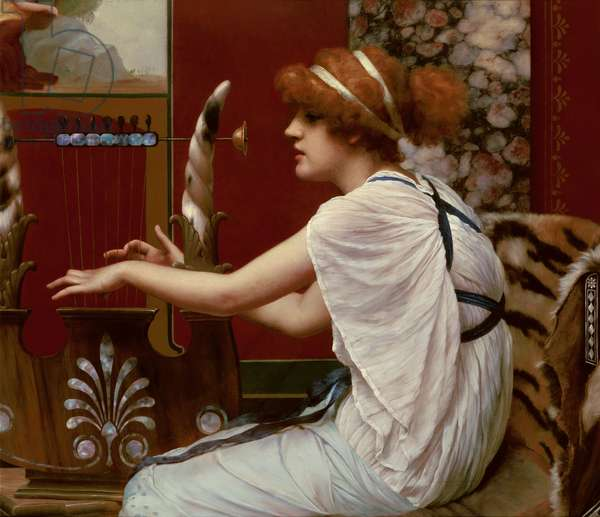 The Muse Erato at her Lyre, 1895 (oil on canvas)