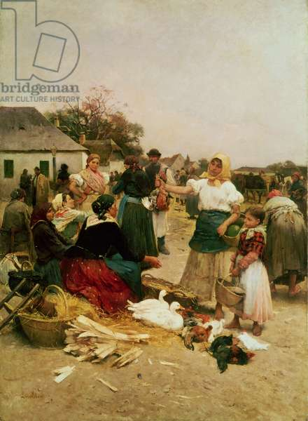 The Poultry Market, 1885