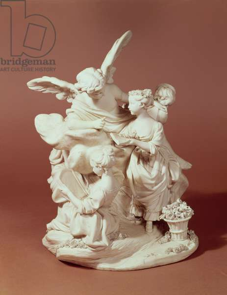 The Education of Love, Sevres group, after Boucher, 1763 (porcelain)
