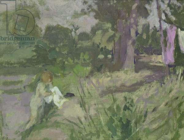 Bathing in the Yonne (oil)