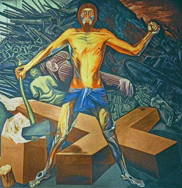Modern Migration of the Spirit, from The Epic of American Civilization, 1932-34 (mural)