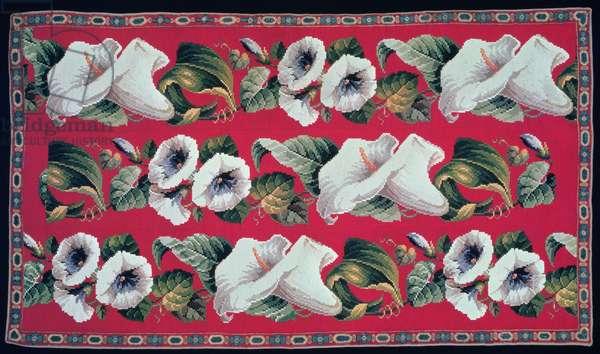 Berlin work rug, wool on canvas, c.1860