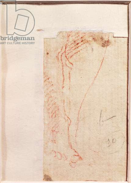 Study of Christ's feet nailed to the Cross (red chalk on paper) (verso)