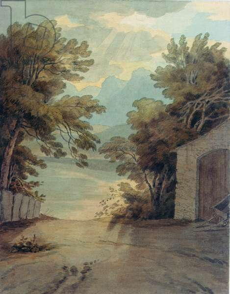 A subterranean passage to the quarry at Liverpool (watercolour)
