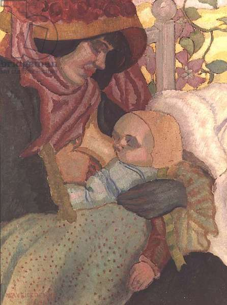 A Mother breast-feeding her Child, c.1897