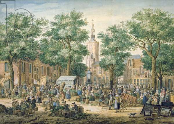 Market in The Hague, 1769 (oil on canvas)
