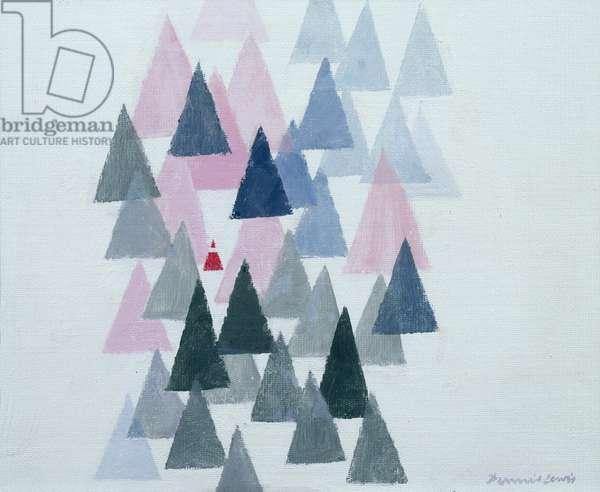 Christmas Morning (gouache on paper)