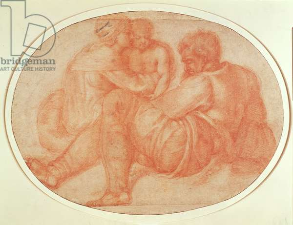 Study of the Holy Family (red chalk on paper)