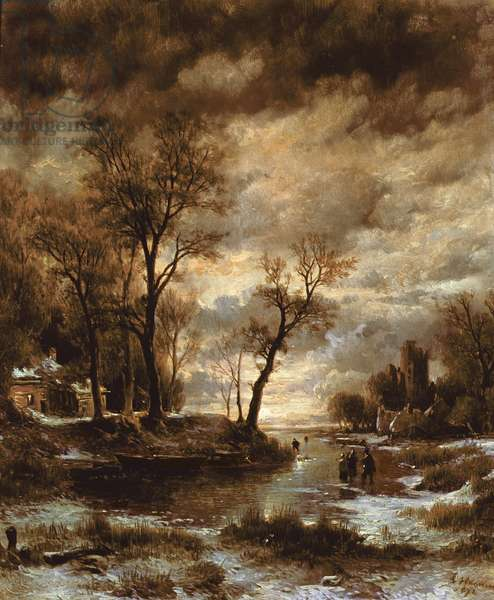 Winter in Holland, 1872