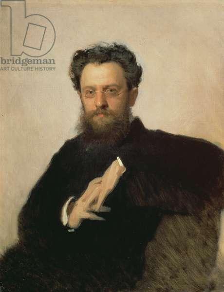 Portrait of Professor A. Prachov (1846-1916), 1879 (oil on canvas)