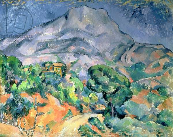 Mont Sainte-Victoire, 1900 (oil on canvas)