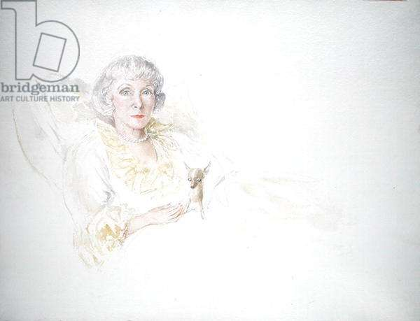 Portrait of Lady Diana Cooper (w/c on paper)