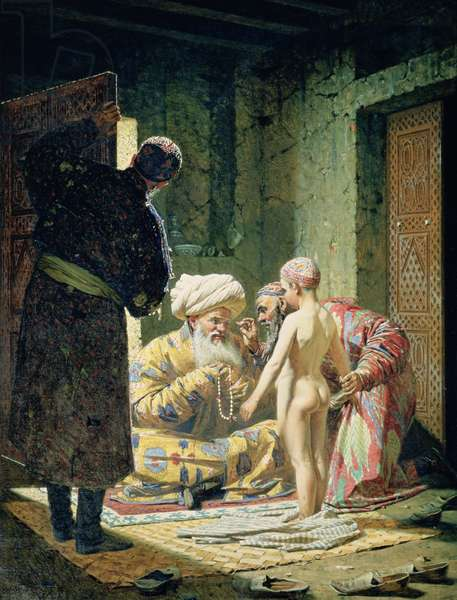 Sale of a Child Slave, 1871-72 (oil on canvas)