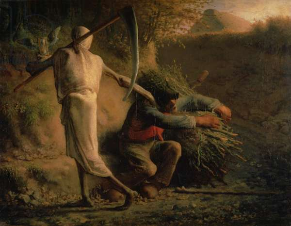 Death and the Woodcutter, 1858-59 (oil on canvas)