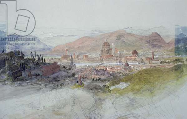 View of Florence, 1837-39 (w/c on paper)