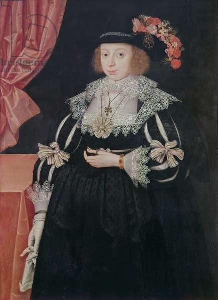 Anne Hale, Mrs Hoskins (c.1609-51), 1629 (panel)