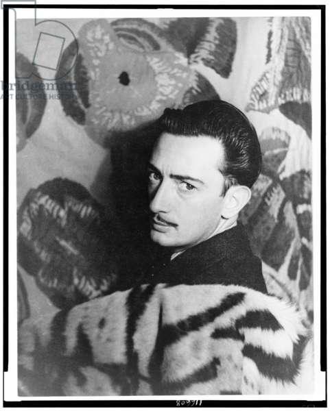 Portrait of Salvador Dali, 1939 (gelatin silver print)