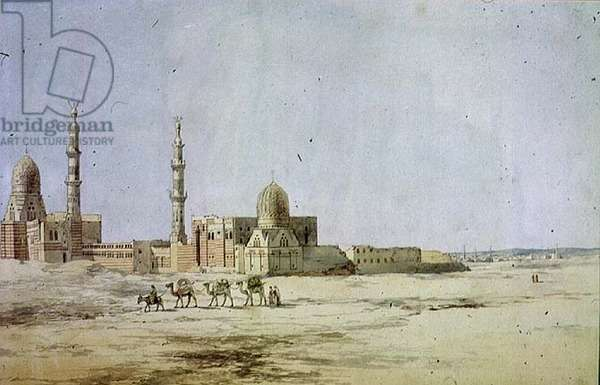Tombs of the Khalifs, Cairo (w/c on paper)