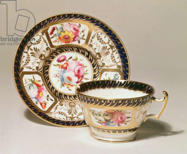 Cup and saucer, c.1810