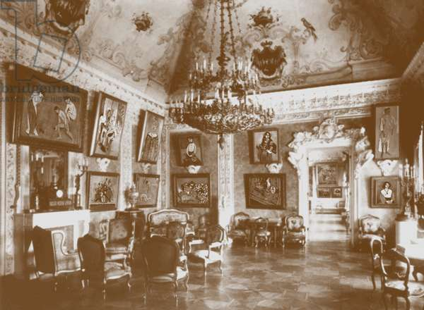 Pink Dining Room, known as the Matisse Room, 1913 (b/w photo)