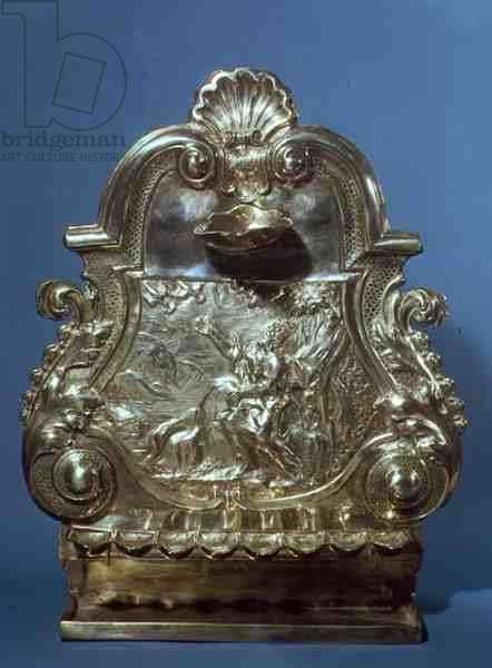 Hanukah Lamp, made by John Ruslen, 1709 (silver)