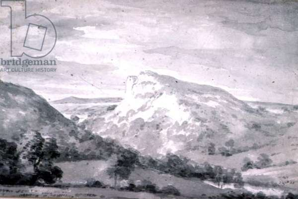 Matlock High Tor (watercolour)