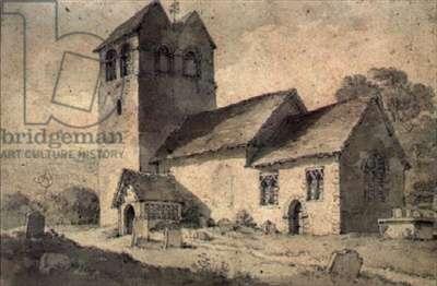 St.Bartholomew's Church, Fingest, Bucks (watercolour)