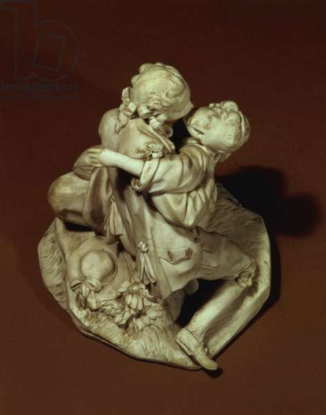 The Kiss, Sevres group, after Boucher, 1765 (porcelain)