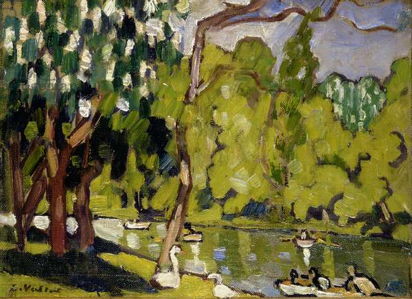 Boats on the lake in the Bois de Boulogne, 1933