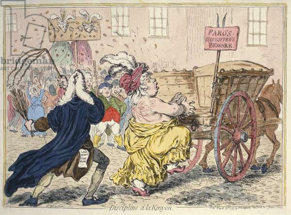 'Discipline A La Kenyon', March 25th 1797 (hand-coloured etching)