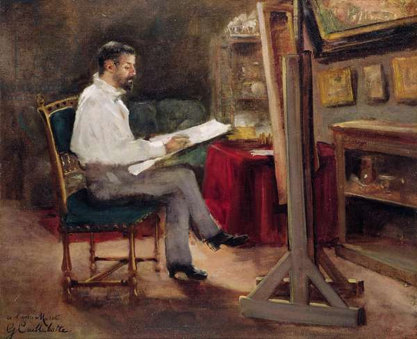 The Artist Morot in his Studio, c.1874 (oil on canvas)
