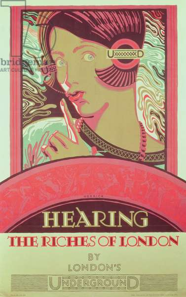 'Hearing the Riches of London' London Transport poster (colour litho)