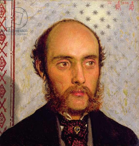 Portrait of William Michael Rossetti (1829-1919) by Lamplight, 1856 (panel)