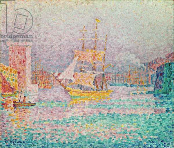 Harbour at Marseilles, c.1906 (oil on canvas)