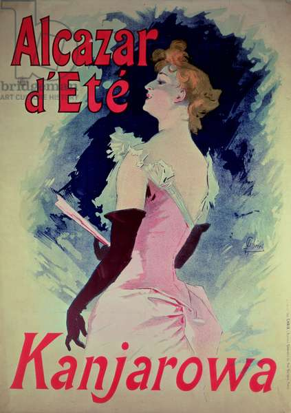 "Poster advertising ""Alcazar d'Ete"" starring Kanjarowa"